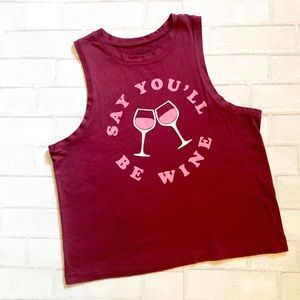 NWOT Say you'll be wine tank